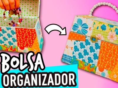 Organizador de Cartón ¡Con forma de Bolsa! | Joyero Organizador de Accesorios Cartonaje - Catwalk ♥