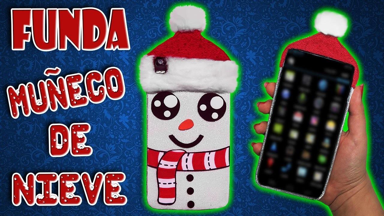 ❄⛄ Tutorial: Funda para Móvil de Muñeco de Nieve || Snowman Mobile Case ⛄❄