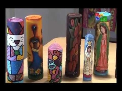 Velas talladas girasoles parte 1 -Talento artesano
