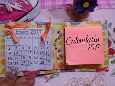 Calendario 2017 y agenda DIY