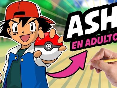COMO DIBUJAR A ASH EN ADULTO - Como dibujar al protagonista de Pokemon en adulto