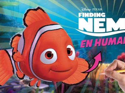 COMO DIBUJAR A NEMO EN HUMANO - Como sería Nemo si fuera humano? - art challenge