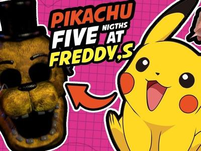 COMO DIBUJAR A PIKACHU ESTILO FNAF - Como seria Pikachu si fuera animatronico - art Challenge.