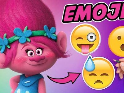 COMO DIBUJAR A POPPY DE TROLLS COMO EMOJIS - Emojis en la vida real - emoji challenge