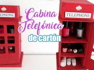 COMO HACER ORGANIZADOR DE CARTÓN PARA MI CUARTO I Cabina telefónica de londres diy ♥ Qué cositas