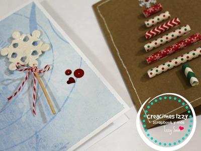 Como hacer tarjetas faciles para regalar en Navidad * Creaciones Izzy