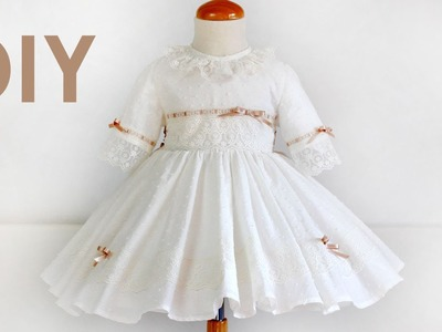 Como hacer un vestido de ceremonia. Costura ropa de niña.