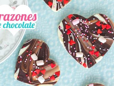Corazones de chocolate | Chocolate bark | San Valentín | Quiero Cupcakes!
