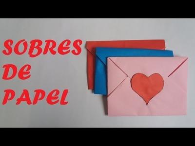 Envelopes for valentine's letters - Sobres de papel para cartas de san valentin