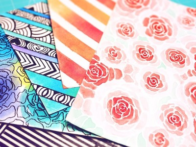 ¿No tienes hojas Scrapbook? ¡Crea tu propio papel decorado! [DIY]