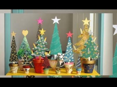 Pintar Arbolitos de Navidad en Madera - Ideas Navideñas