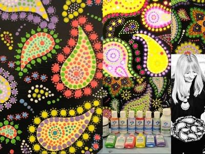 Platos de Madera Decorados - Puntillismo - Dimensionales Color Eterna