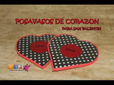 Posavasos de Corazon para San Valentin