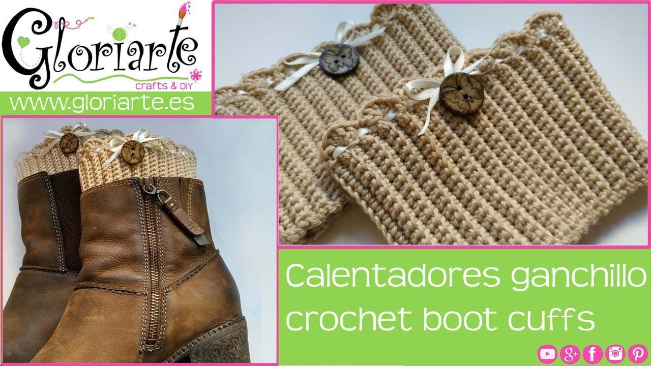 Calentadores de ganchillo. Crochet boot cuffs.
