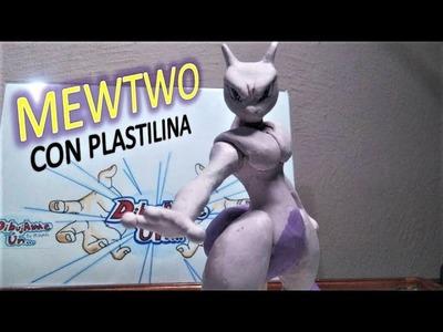 Como hacer a MEWTWO con plastilina. how to make Pokemon MEWTWO in clay DibujAme Un