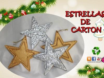 COMO HACER ESTRELLAS DE CARTON.  DECORAR EL ARBOL DE NAVIDAD