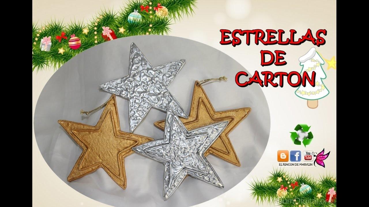 Como hacer estrellas de carton decorar el arbol de navidad - Manualidades para decorar el arbol de navidad ...
