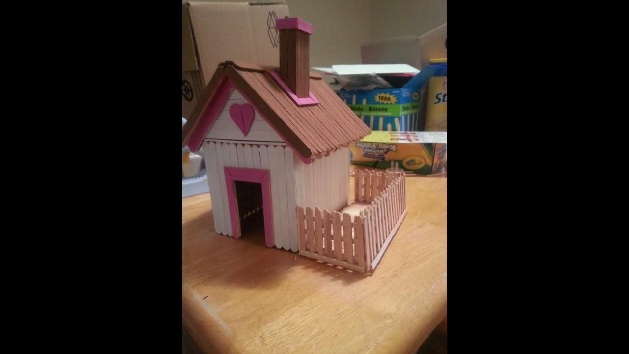 Cómo hacer la casa usando Popsicle Stick - Simple Craft For Kid