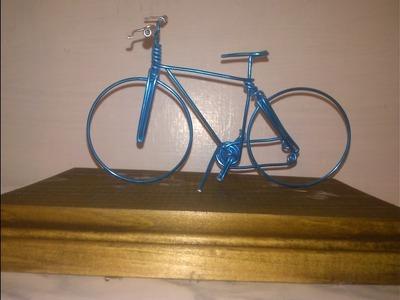 Como hacer una bicicleta con alambre muy facil tutorial