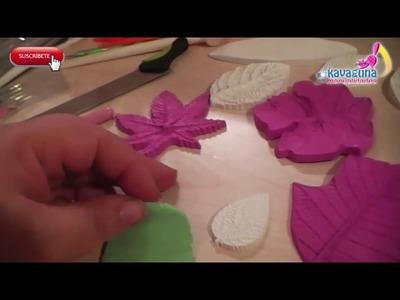 Cómo ocupar tu molde de hojas para porcelana fría