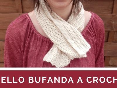 CUELLO BUFANDA A CROCHET - PASO A PASO