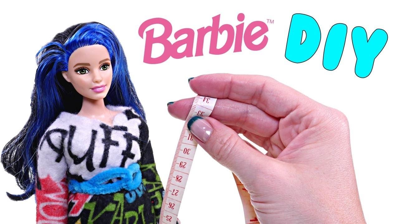 DIY Vestido de Fieltro Como Hacer Ropa Para Barbie Nuevas Barbies Fashionistas