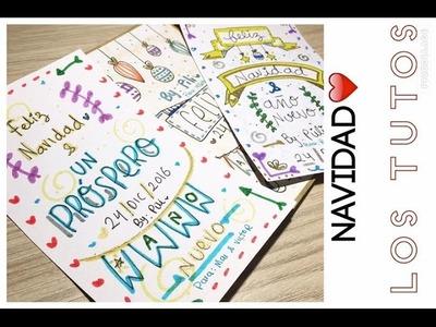 HAZ TU TARJETA DE NAVIDAD ( 3 IDEAS ) CARTA NAVIDEÑA - IDEAS PARA NAVIDAD