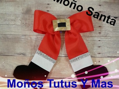 MOñO SANTA CLAUS Paso a Paso SANTA HAIR BOW Tutorial DIY Step by Step PAP How To