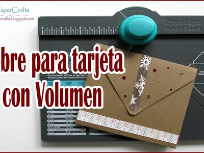 Sobre para Tarjeta con Volumen o 3D | Envelope Punch Board | Tutorial DIY | Luisa PaperCrafts