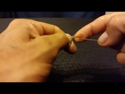 Tecnica de tejido en alambre para joyeria