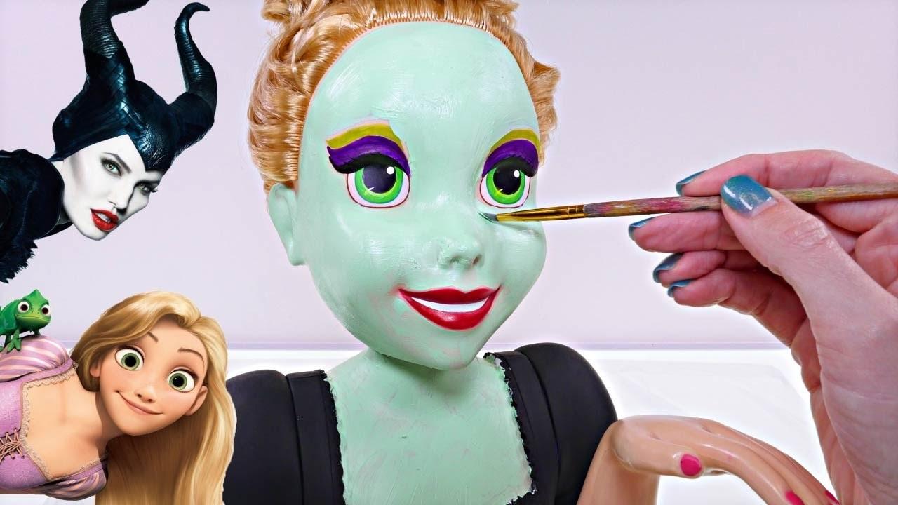 Transformando Muñecas Convierte a Rapunzel en Malefica Manualidades Divertidas en DCTC