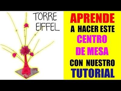 Tutorial 6 Como Hacer Recuerdo Centro de Mesa Neon Torre Paris Eiffel  Eventos El Regalo Especial