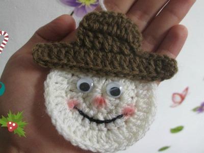 TUTORIAL Muñeco De Nieve a Crochet - Ganchillo