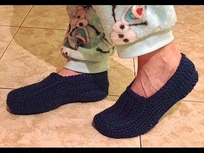Tutorial Zapatillas-HOME Hombre   CROCHET paso a paso