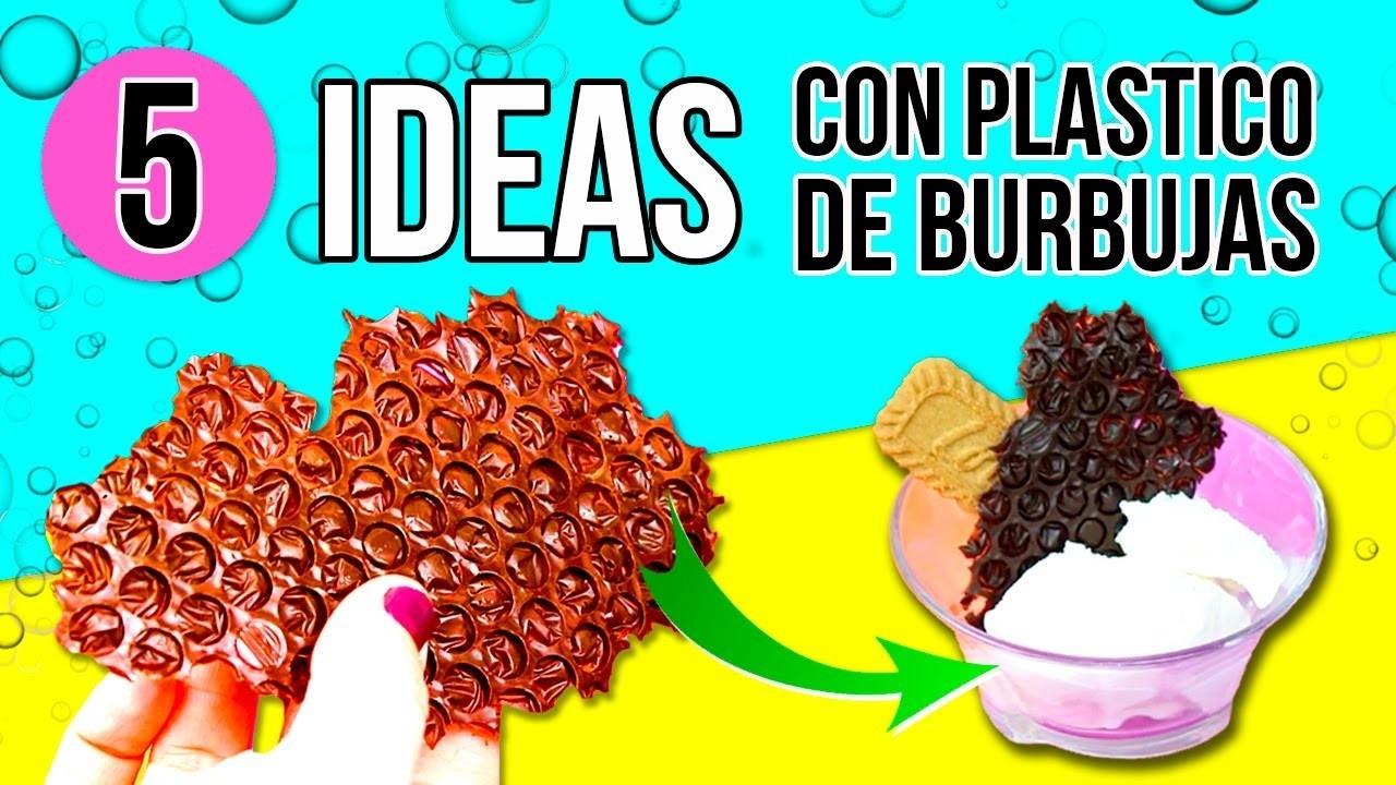 5 COSAS INCREIBLES que puedes hacer con PLASTICO DE BURBUJAS  * 5 LIFE HACKS sorprendentes