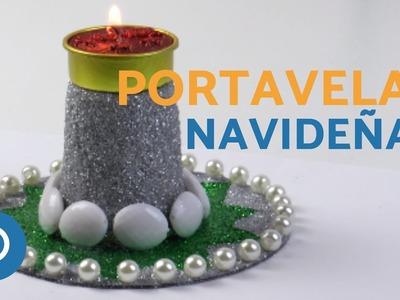 ADORNOS para NAVIDAD - Portavelas navideñas
