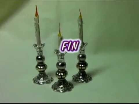 CANDELABROS  PARA TU BELÉN red de lascosasdelalola - HOW TO MAKE CANDLE HOLDERS FOR YOUR BETHLEHEM.