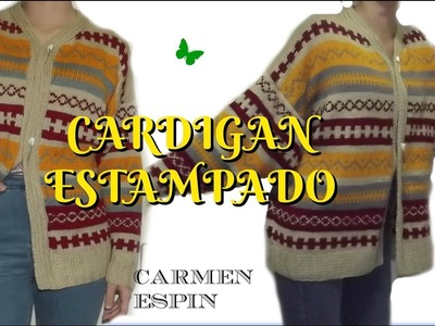 CARDIGAN ESTAMPADO:DIY