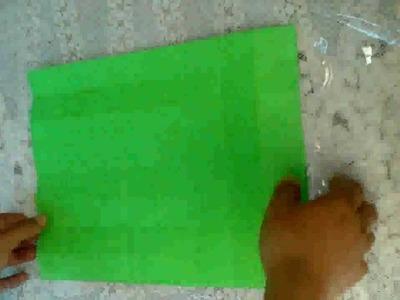 Cómo doblar hoja para formar piezas de origami 3D