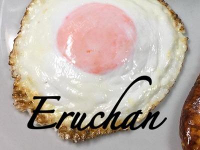 Como hacer Huevo frito con porcelana fria