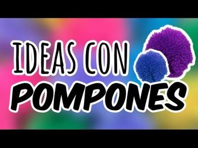 ¿Cómo Hacer Pompones? + Ideas Super Coloridas ✂️