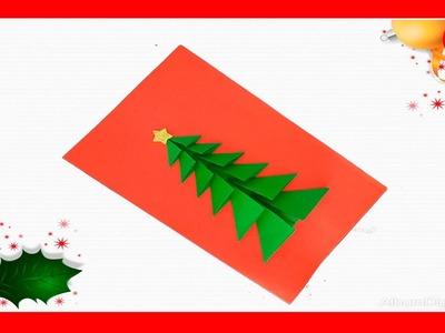Como hacer tarjetas de Navidad originales.tarjeta navideña facil y bonita
