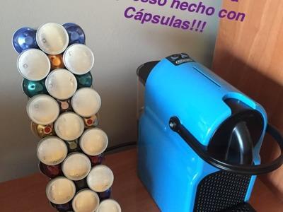 Como hacer un portacápsulas con cápsulas a coste 0! (Nespresso)