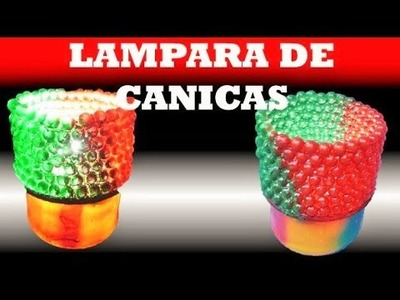 Como Hacer una Lampara con Canicas. How to make a lamp with Marbles