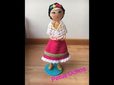Como tejer muñeca Frida amigurumi By Petus Ochoa CUARTA PARTE
