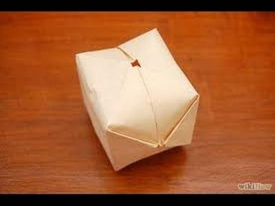 Cubo inflable de papel (PAPIROFLEXIA)