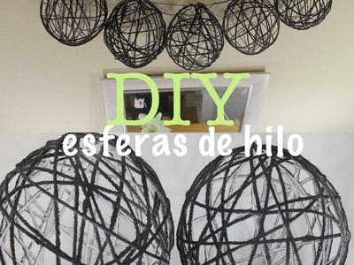 DIY Esferas de hilo| Lámparas colgantes