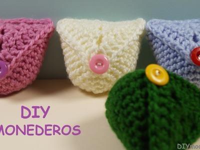 Monedero a crochet paso a paso