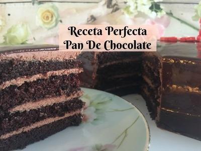 Pastel Chocolate , Suave, Exquisito y Facil la Mejor Receta