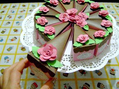 Pastel de Cartulina - para San Valentín ♥